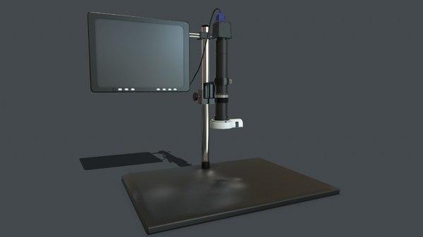 3D pbr microscope model