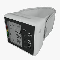 blood pressure monitor 3D model