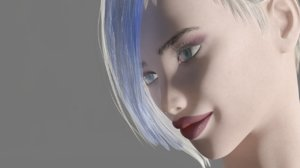 3D model rigged female tera