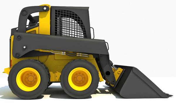 3ds max skid steer loader