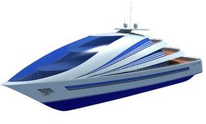 3d futuristic luxury yacht
