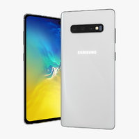 3D white samsung galaxy s10 model