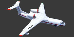 beriev be-200 altair aircraft 3ds