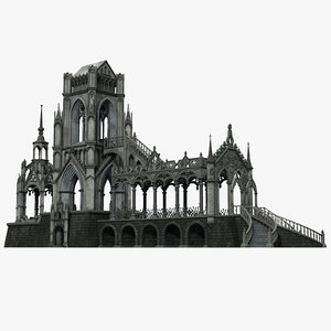 3D gothic pavilion 03 build