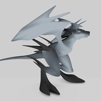 3D flying dragon