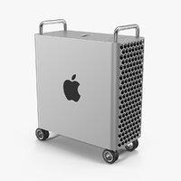 mac pro wheels 2019 3D model
