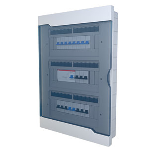 electrical fuse box 3D