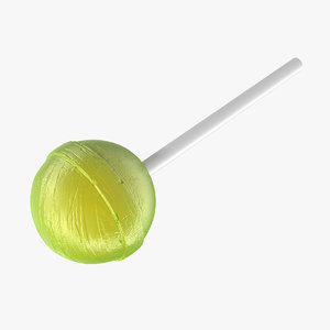 3D chupa chups lollipop apple fruit model