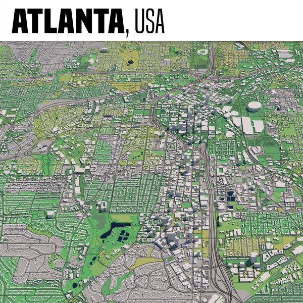 3D city atlanta model