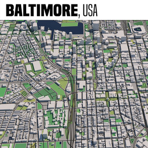 city baltimore 3D model