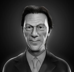 3D model imran khan realistic head