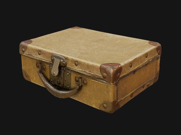 suitcase old 3D model
