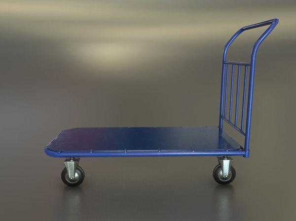 3D standard transport trolley model