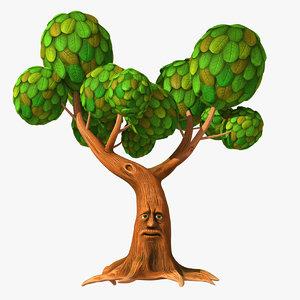 3D tree talking cartoon model