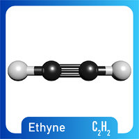 c2h2 molecule ethyne model