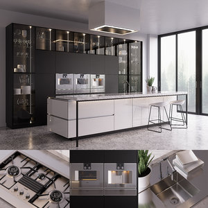 3D poliform artex kitchen gaggenau
