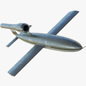 3D german v1 flying bomb