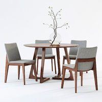 Fuchsia Dining Chair & Cress Round Dining Table