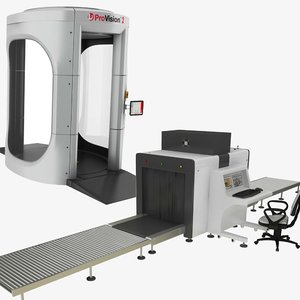 3D x-ray body security machine