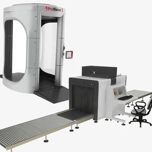 3D x-ray body security machine