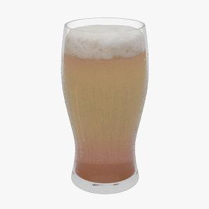 beer glass 3d model