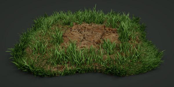 lawn grass plant 3D model