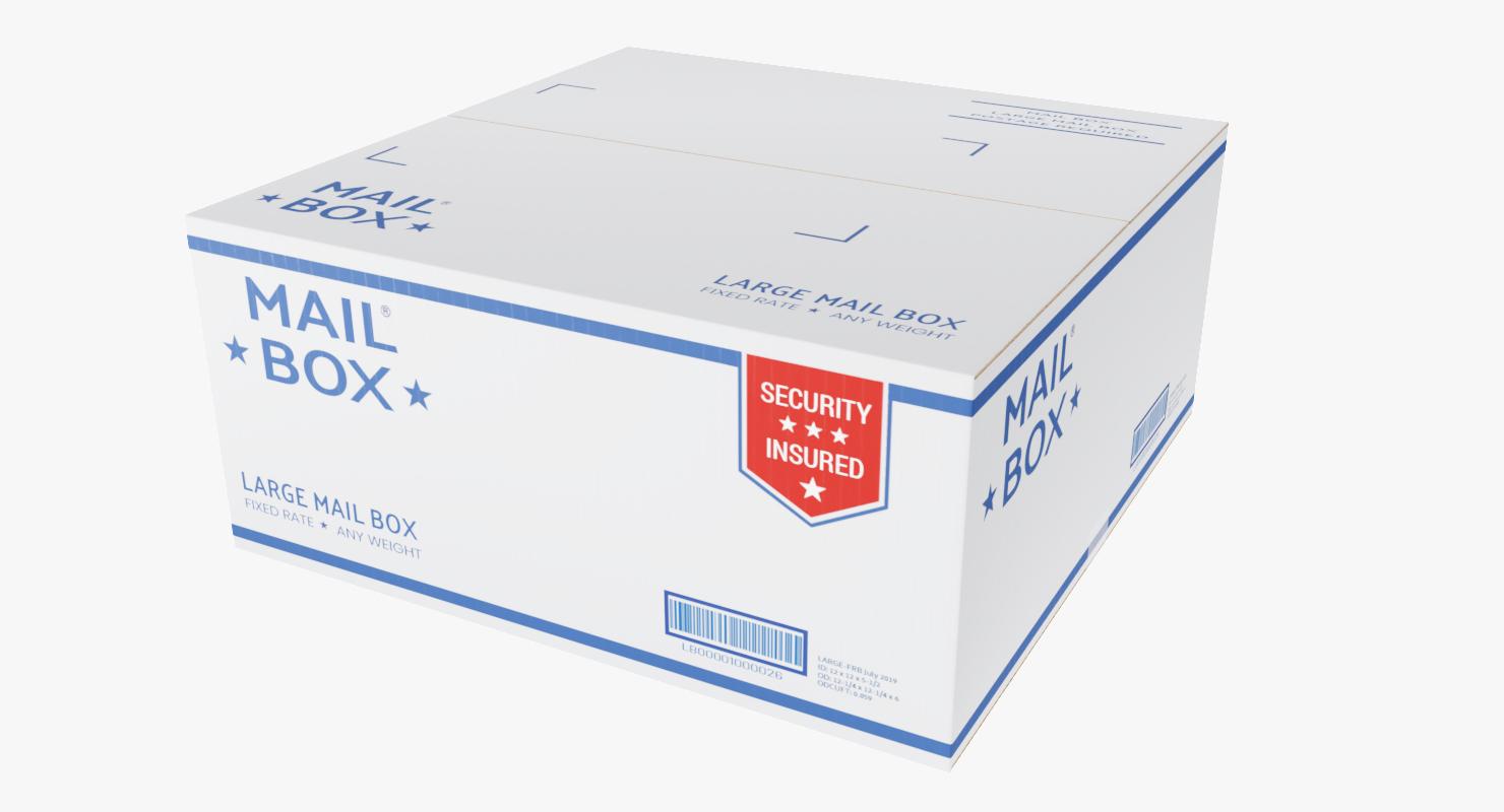 mail box large 3D model
