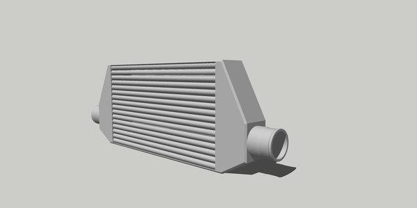 3D intercooler cooler