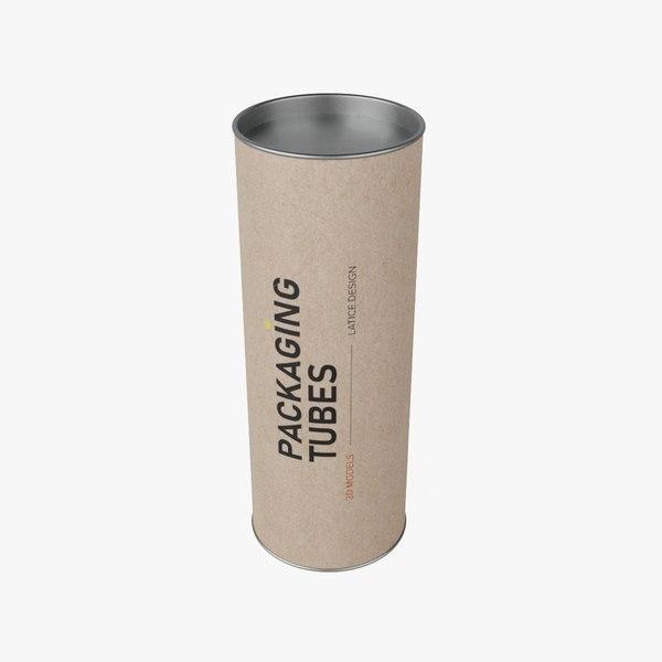 3D packaging tube 2 model