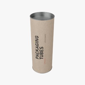 3D packaging tube 2 model