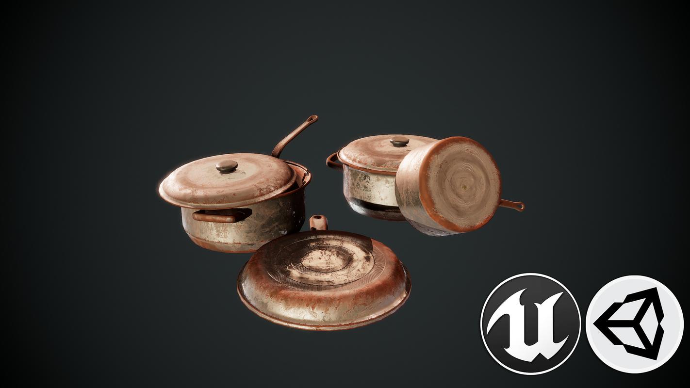 3D kitchen pbr model