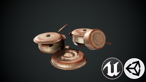 3D kitchen pbr model