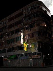hong kong old building model