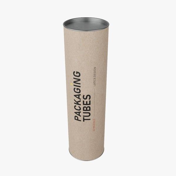 packaging tube 3D model