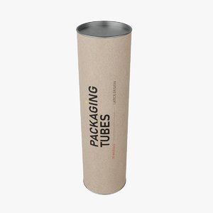 packaging tube 3D model