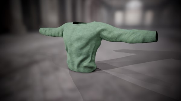 3D model shirt sweatshirt