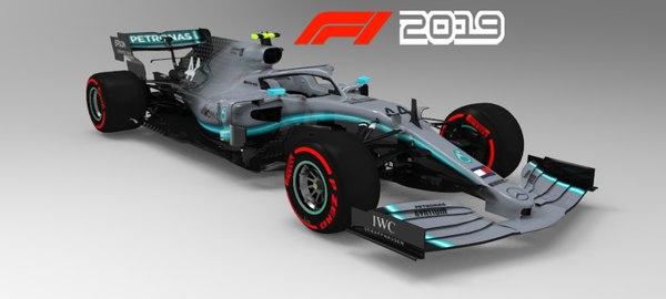 mercedes f1 2019 w10 3D model
