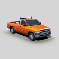 3D dodge ram 1500 pickup truck