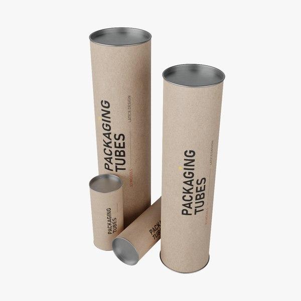 packaging tubes 3D