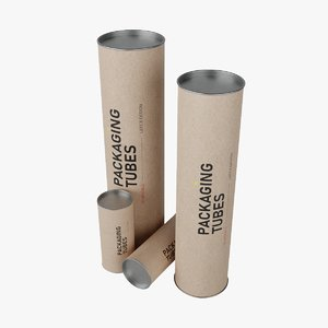 packaging tubes 3D