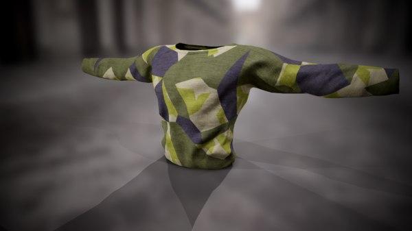 3D shirt sweatshirt model