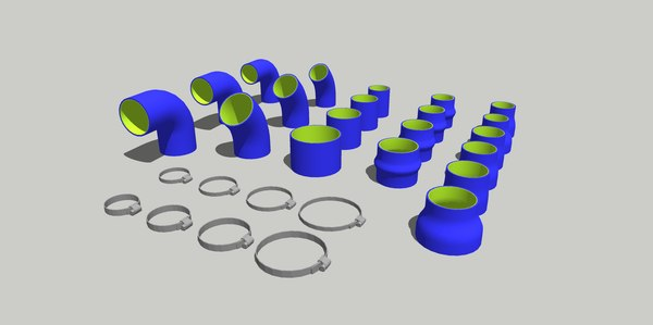 silicon hoses 3D model