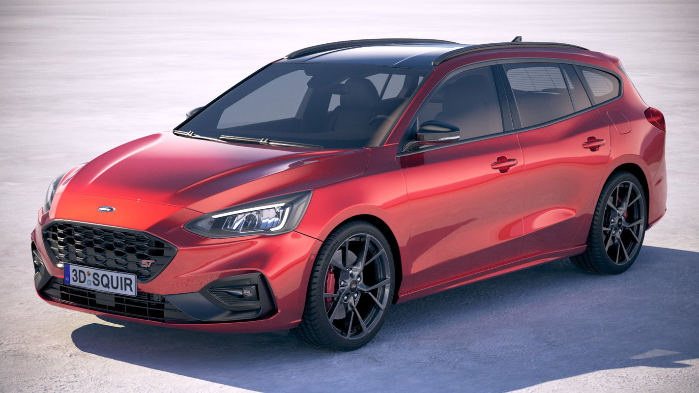 focus st wagon 3D