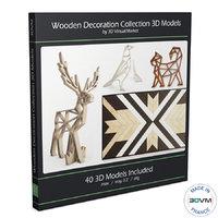 natural wooden decorative 3D model