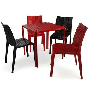 3D braided furniture ami table chairs