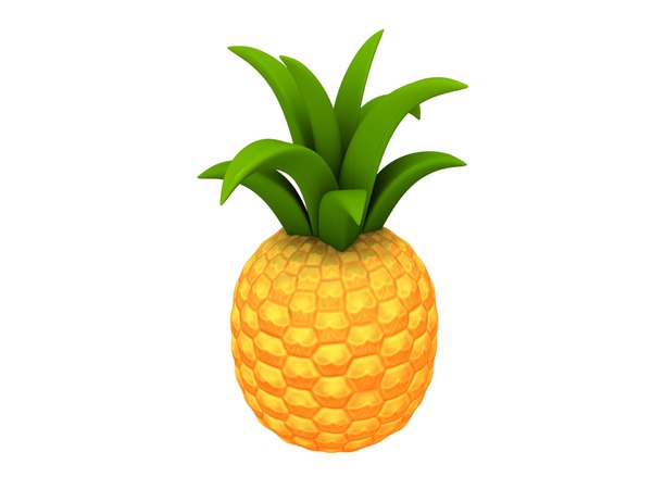 pineapple cartoon 3D