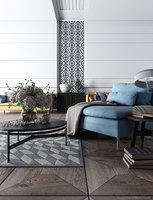 3D aspen scene living room