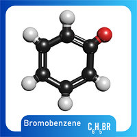 3D model c6h5br bromobenzene