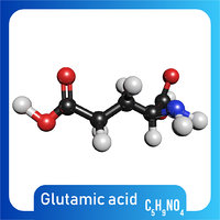 c5h9no4 glutamic acid 3D