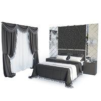 3D classic bedroom bed model